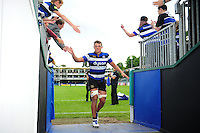 Bath Rugby debutant Zach Mercer leaves the field after the match. Aviva Premiership match, between Bath Rugby and Newcastle Falcons on September 10, 2016 at the Recreation Ground in Bath, England. Photo by: Patrick Khachfe / Onside Images