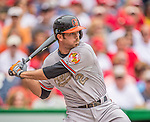 27 May 2013: Baltimore Orioles infielder J.J. Hardy in action against the Washington Nationals at Nationals Park in Washington, DC. The Orioles defeated the Nationals 6-2, taking the Memorial Day, first game of their interleague series. Mandatory Credit: Ed Wolfstein Photo *** RAW (NEF) Image File Available ***