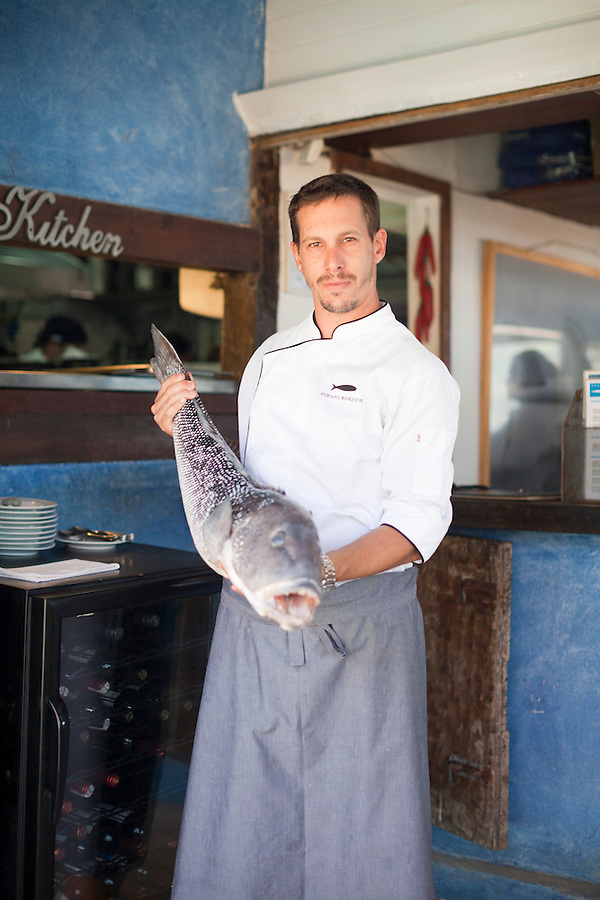 Chef Gustavo Rinkevich, at Rocka Beach Lounge and Restaurant.