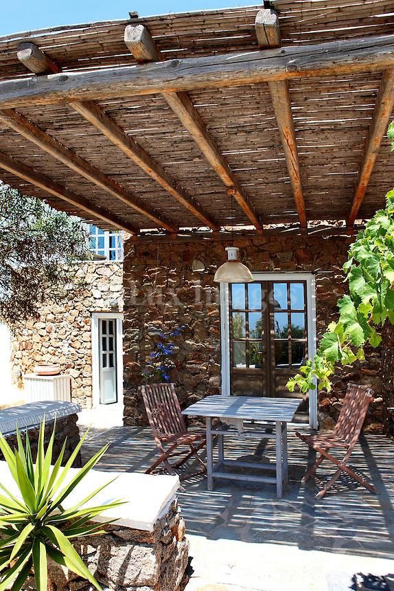 traditional stone patio