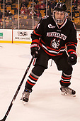 Jeremy Davies (NU - 4) - The Harvard University Crimson defeated the Northeastern University Huskies 4-3 in the opening game of the 2017 Beanpot on Monday, February 6, 2017, at TD Garden in Boston, Massachusetts.