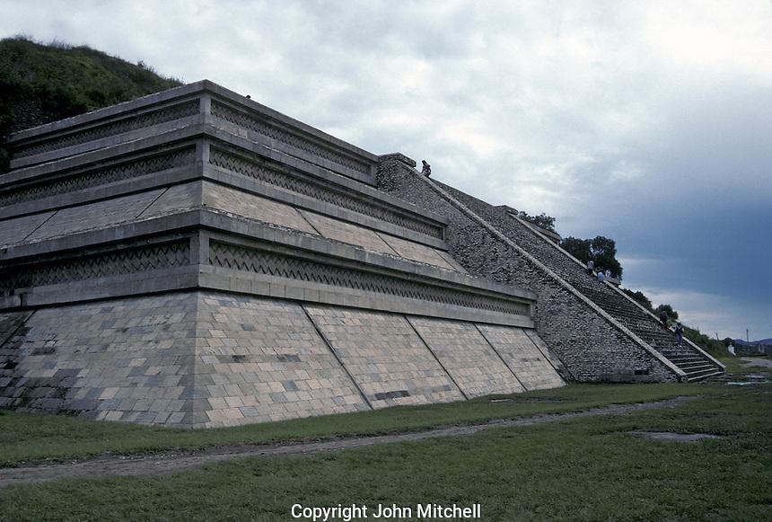 Reconstructed pyramid and platform, Archaelogical Zone, Tepanapa Pyramid, Cholula, Puebla, Mexico