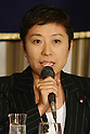 June 8, 2010 - Tokyo, Japan - Kiyomi Tsujimoto, Member of The House of Representatives, answers journalists questions during a press-conference hold at the Foreign Press Correspondent of Japan in Tokyo, June 8, 2010. The SDP decided last month to leave the coalition government, opposing an agreement between Japan and the United States on the relocation of a key U.S. military base within Okinawa Prefecture.
