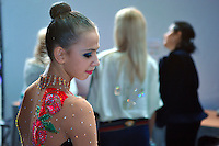 Daria Dmitrieva of Russia portrait after performing in Event Finals at 2010 World Cup at Portimao, Portugal on March 14, 2010.  (Photo by Tom Theobald).