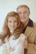 """May 1978, Los Angeles, CA. Sheila is meeting for the first time Gene Kelly. Sheila, recorded,  performed and sang """"Singing in the Rain"""" on stage in 1978."""