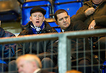 Hearts v St Johnstone...14.02.12.. Scottish Cup 5th Round Replay.Steve Lomas watches from the stand with Chairman Steve Brown.Picture by Graeme Hart..Copyright Perthshire Picture Agency.Tel: 01738 623350  Mobile: 07990 594431