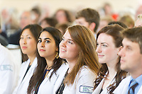 From left, Lillian Chang, Ayse Celebioglu, Alexandra Brown, Meghan Breen, Nicholas Bonenfant. Class of 2017 White Coat Ceremony.