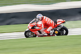 August 8, 2009, Nicky Hayden practices during Free Practice 1 at the Red Bull Indianapolis Grand Prix.