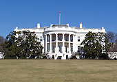 South Portico of the White House in Washington, D.C. taken from the motorcade en route to Fire Station #5 in Arlington, Virginia on Friday, February 3, 2012..Credit: Ron Sachs / Pool via CNP