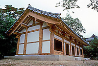 So. Korea: Kyong-Ju. New monastic building at Bulgug-sa Temple. Photo '81.