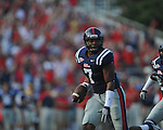 Ole Miss' Wayne Dorsey (7) intercepts a pass at Vaught-Hemingway Stadium in Oxford, Miss. on Saturday, September 10, 2011. Ole Miss won 42-24.