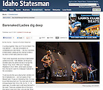 Image of Barenaked Ladies from their 07/06/12 performance at the Toledo Zoo, published in the online version of the Idaho Statesman newspaper.