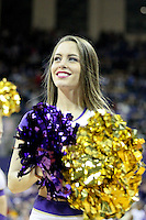 Dec 28, 2014:  Washington cheerleader Hailey Kiggins entertained fans during the game against Stony Brook.  Stony Brook defeated Washington 62-57 at Alaska Airlines Arena in Seattle, WA.