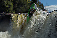 Whitewater Kayaking on the Beaver River, Moshier Falls Section, 09/06/2009.