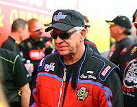 Feb 26, 2017; Chandler, AZ, USA; NHRA top fuel driver Steve Faria during the Arizona Nationals at Wild Horse Pass Motorsports Park. Mandatory Credit: Mark J. Rebilas-USA TODAY Sports