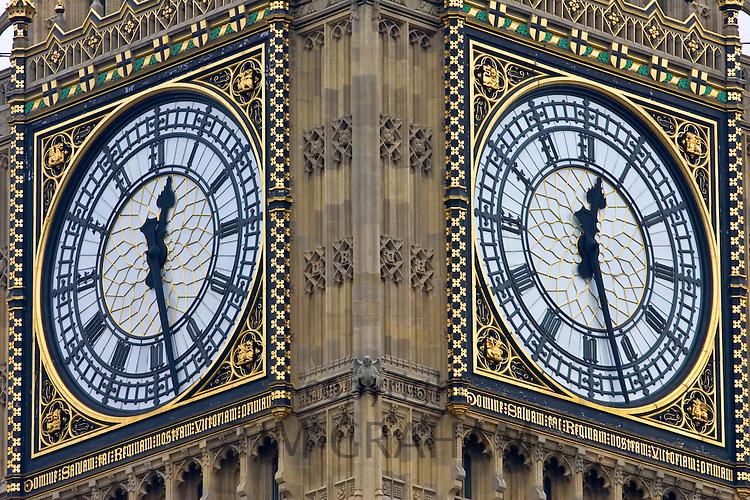 Big Ben clock in St Stephen's Tower, London, United Kingdom