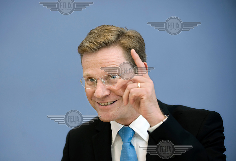 Guido Westerwelle, leader of the Free Democratic Party (FDP).