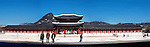 A panoramic view of the fortress palace built in 1395, in Seoul, South Korea Gyeongbokgung Palace is also called the Northern Palace.