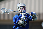 08 February 2015: Air Force's Chris Walsch. The Duke University Blue Devils hosted the United States Air Force Academy Falcons at Koskinen Stadium in Durham, North Carolina in a 2015 NCAA Division I Men's Lacrosse match. Duke won the game 13-7.