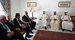 Palestinian Prime Minister Rami al-Hamadullah  meets with the Qatari Prime Minister Sheikh Abdullah bin Nasser bin Khalifa al-Thani in Capital of Tunis on April 5, 2017. Photo by Prime Minister Office