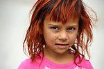 """THIS PHOTO IS AVAILABLE AS A PRINT OR FOR PERSONAL USE. CLICK ON """"ADD TO CART"""" TO SEE PRICING OPTIONS.   A girl in a largely Roma, Turkish-speaking neighborhood of Dobrich, in the northeast of Bulgaria."""