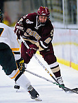 "19 January 2007: Boston College defenseman Tim Kunes from Huntington, NY, in action during a Hockey East matchup against the University of Vermont at Gutterson Fieldhouse in Burlington, Vermont. The UVM Catamounts defeated the BC Eagles 3-2 before a record setting 50th consecutive sellout at ""the Gut""...Mandatory Photo Credit: Ed Wolfstein Photo."