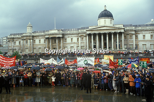 &quot;Stop the War&quot; Ant Falklands war demo Trafalgar Square London  1982