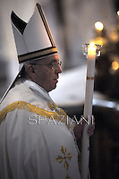 "Pope Francis   ""feast of candles"" during  Holy Mass for the Solemnity of the presentation of Our Lord at St Peter's basilica at the Vatican.  on Febraury 2, 2014"