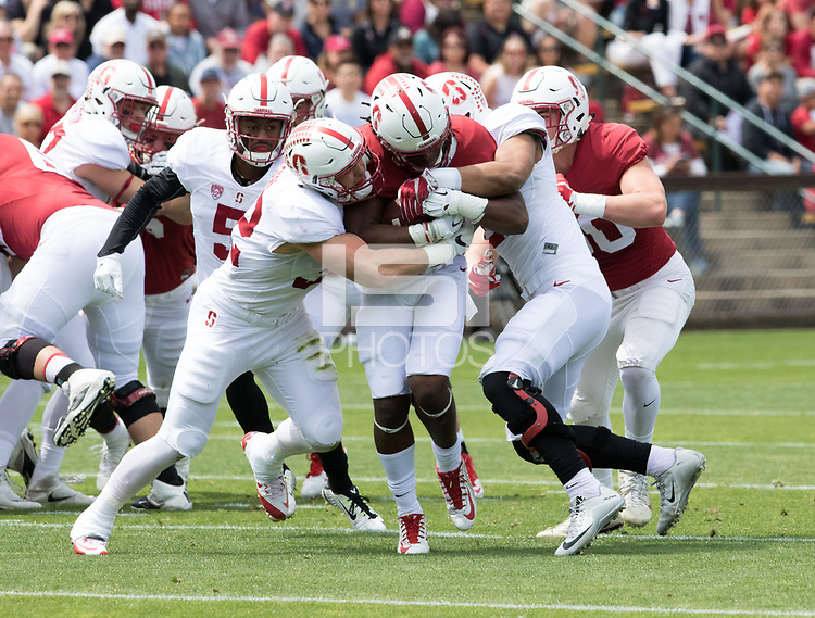 Stanford, CA - April15, 2017:  Joey Alfieri (32) Curtis Robinson (21) at Cagan Stadium.