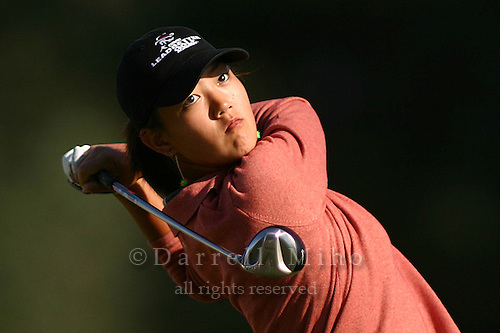 March 26, 2004; Rancho Mirage, CA, USA;  14 year old amateur Michelle Wie tees off on the 2nd hole during the 2nd round of the LPGA Kraft Nabisco golf tournament held at Mission Hills Country Club.  Wie finished the day  with an even par 72.<br />