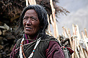 A Karnak Nomad Woman on Ladakh's Changtang Plateau.