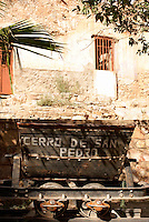 Old mining car in the ghost town of Cerro de San Pedro, San Luis Potosi state, Mexico