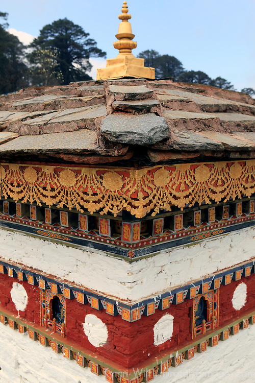 Asia, Bhutan, Thimpu. Scene from the 108 Druk Wangyal Khangzang chortens at Dochula Pass.
