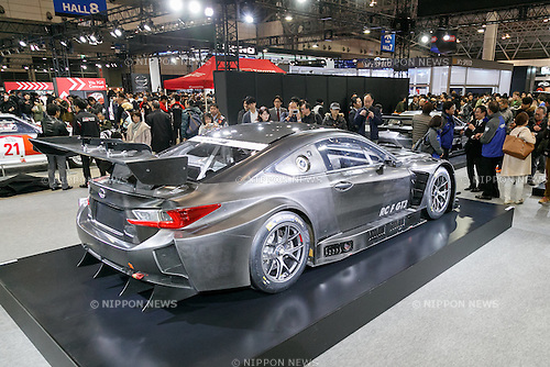 The new LEXUS RC F GT3 on display at Tokyo Auto Salon 2017 on January 13, 2017, Chiba, Japan. Tokyo Auto Salon is Japan's largest show for custom cars  with 417 automobile-related exhibitors displaying their latest cars, products, and services during this year's three-day trade show. The show runs from January 13 to 15. (Photo by Rodrigo Reyes Marin/AFLO)