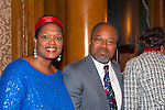 Rose Guerrier and Henri J. Desrosiers NP, at 2nd Annual Interfaith Memorial Service for Haiti, at Brooklyn Borough Hall, Brooklyn, New York, USA, on January 11 2012, two years after the Mw 7.0 earthquake in Haiti.
