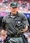 29 May 2016: MLB Umpire Jeff Kellogg works home plate during a game between the St. Louis Cardinals and the Washington Nationals at Nationals Park in Washington, DC. The Nationals defeated the Cardinals 10-2 to split their 4-game series. Mandatory Credit: Ed Wolfstein Photo *** RAW (NEF) Image File Available ***