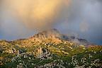 The Amalfi coast mountain around Nocelle,  Postitano, Italy