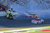 2014 Parker Kligerman Daytona practice crash