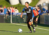 Chris Wondolowski of Earthquakes in action during the game against the WhiteCaps at Buck Shaw Stadium in Santa Clara, California on July 20th, 2011.  Earthquakes and WhiteCaps are tied 1-1 at halftime.