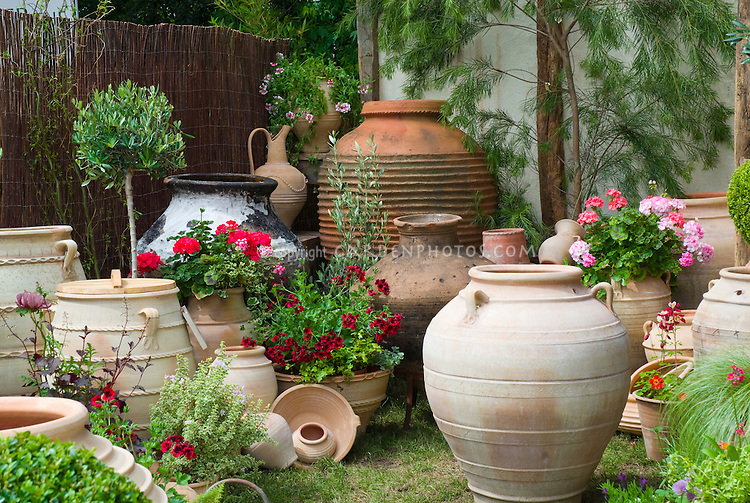 garden design with container gsarden and big pots ornaments plant uamp flower stock with landscape design - Container Garden Design Ideas