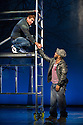 "World premiere of ""Wah! Wah! Girls"" , a British Bollywood musical, at the Peacock Theatre, London. A Sadler's Wells, Theatre Royal Stratford East & Kneehigh production, in association with Hall for Cornwall. Picture shows: Philip Brodie (as Pavel) and Delroy Atkinson (as Cal)."