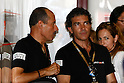 July 3, 2010 - Catalunya, Spain - Antonio Banderas is pictured in his pit during the Catalunya Grand prix on July 3, 2010. (Photo Andrew Northcott/Nippon News)