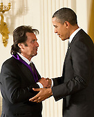 United States President Barack Obama awards the 2011 National Medal of Arts to Al Pacino during a ceremony in the East Room of the White House in Washington, D.C. on Monday, February 13, 2012..Credit: Ron Sachs / Pool via CNP