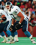 Chris Schultz Toronto Argonauts 1991. Copyright photograph Scott Grant