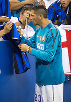 August 03 2010 Inter Milan FC defender Marco Materazzi No.23 signs autographs during an international friendly between Inter Milan FC and Panathinaikos FC at the Rogers Centre in Toronto..Final score was 3-2 for Panathinaikos FC.