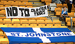 St Johnstone v Celtic&hellip;20.08.16..  McDiarmid Park  SPFL<br />A sign protesting at ticket prices<br />Picture by Graeme Hart.<br />Copyright Perthshire Picture Agency<br />Tel: 01738 623350  Mobile: 07990 594431