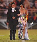 Junior maid Kendall Glass is escorted by Hunter Foley at Lafayette High vs. Lewisburg in Homecoming football action in Oxford, Miss. on Friday, September 30, 2011.