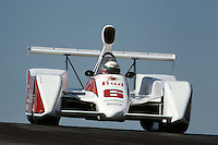 Teo Fabi drives a March 817 entered by Newman Racing in the 1981 Can-Am race at Mid-Ohio Sports Car Course near Lexington, Ohio.