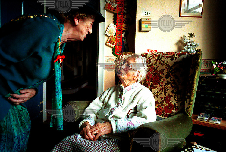 Lancaster City Mayor Edna Jones talks with Marjorie Thompson at the Moor Platt nursing home in Caton. The appointment of a City Mayor can be traced back in Lancaster to 1338, although there is reference to a Chief Bailiff two centuries before this. These days the role is only civic and is given to the longest serving councillor on the city council.