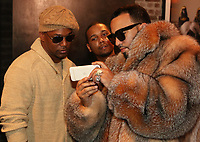 "New York, NY - March 8, 2017 Camron, Juelz Santana & French Montana on the set of the ""Dipped In Coke"" video shoot at the Jue Lan Club, March 8, 2017 in New York City. Photo Credit: Walik Goshorn/Mediapunch"